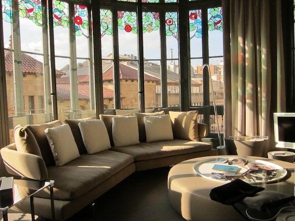 El Palauet Living sitting room windows