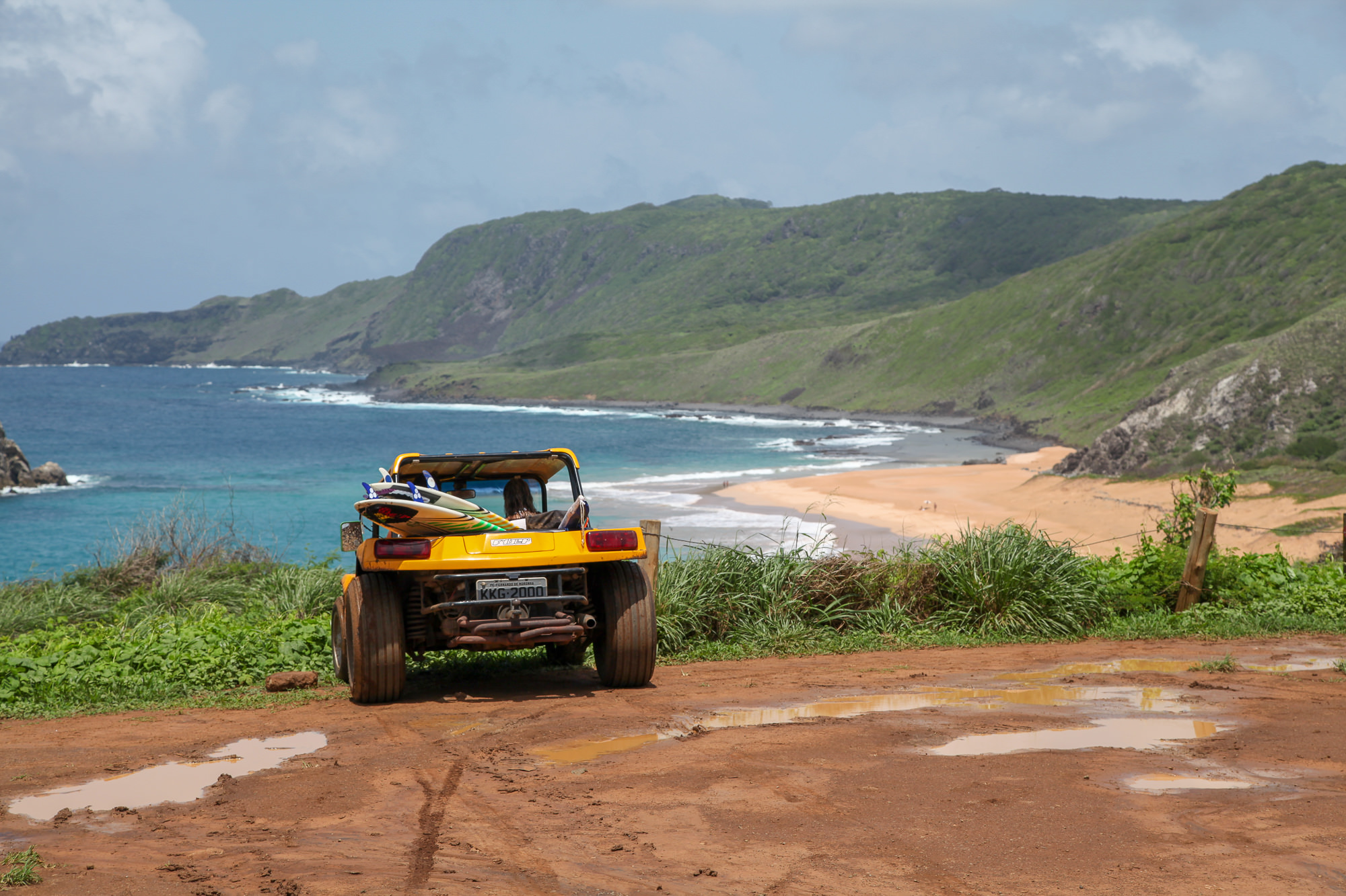 Fernando de Noronha dune buggy and surfboards