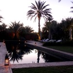 Dar Ahlam pool sunset