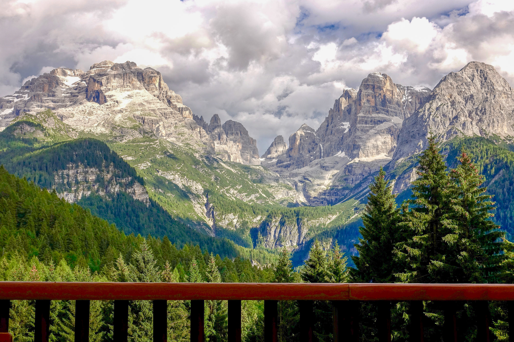 View from Luxury Hotel BioHotel Hermitage Madonna di Compiglio Italy Dolomites