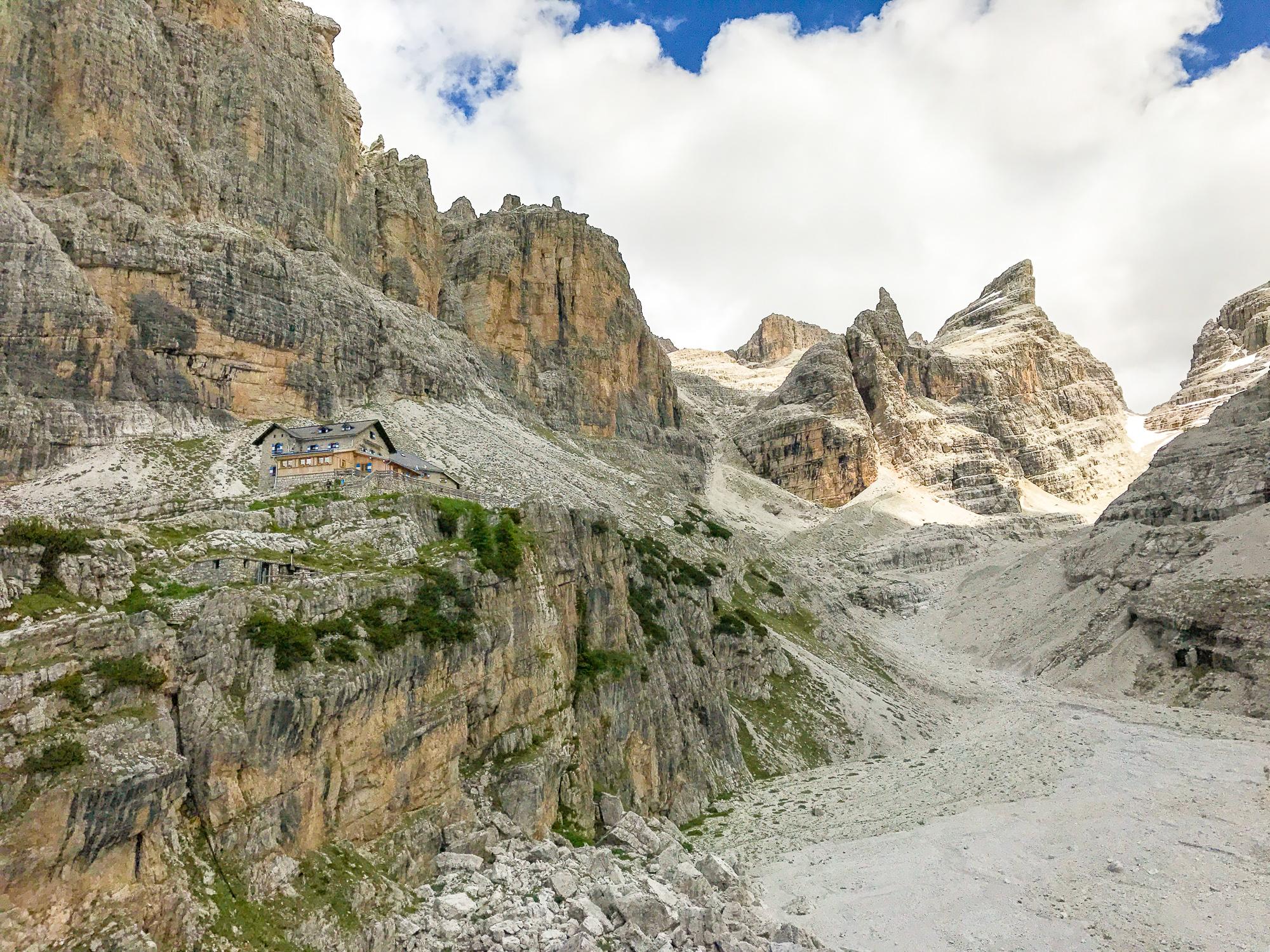 Rifugio Tuckett view