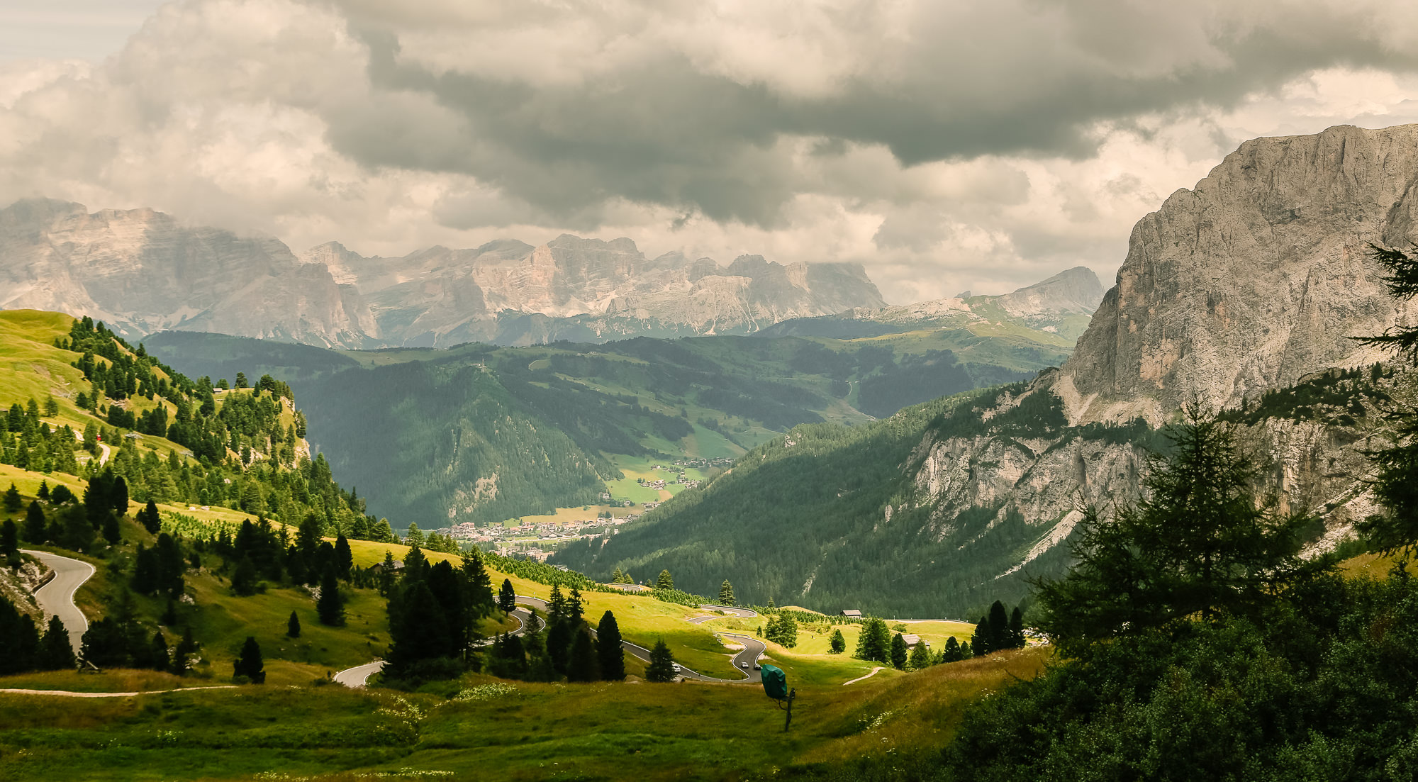 View from Passo Gardena
