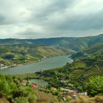 Douro Valley river at distance