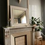 Camellas-Lloret bedroom fireplace