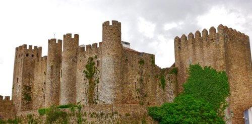 Obidos castle wide view