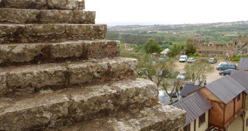 Obidos castle steps