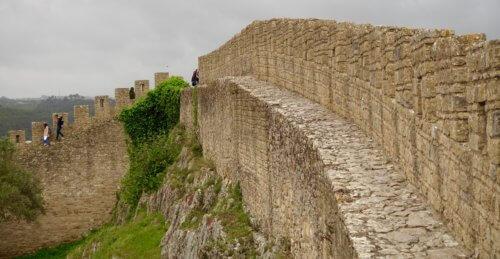 Obidos castle rampart walkway