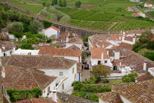 Obidos village view