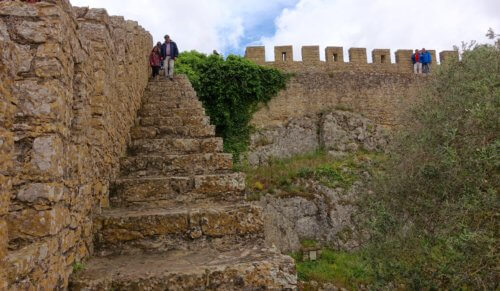 Obidos castle stairway