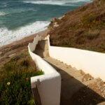 Areias do Seixo steps to sea