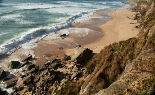 Areias do Seixo beach waves
