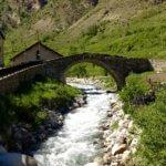 Espot bridge and roaring river