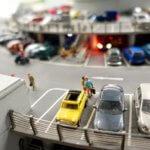 Miniatur Wunderland parking lot cars