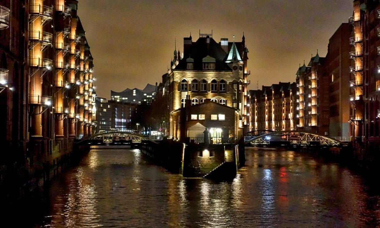 Speicherstadt at night