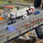 Miniatur Wunderland bridge bike riders
