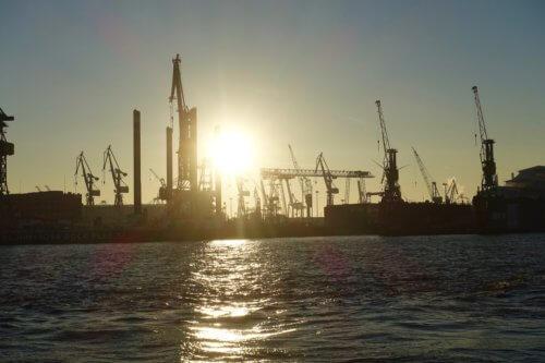 Rive Bistrot Hamburg harbor view