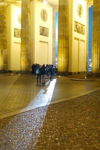 Brandenburg Gate spotlights