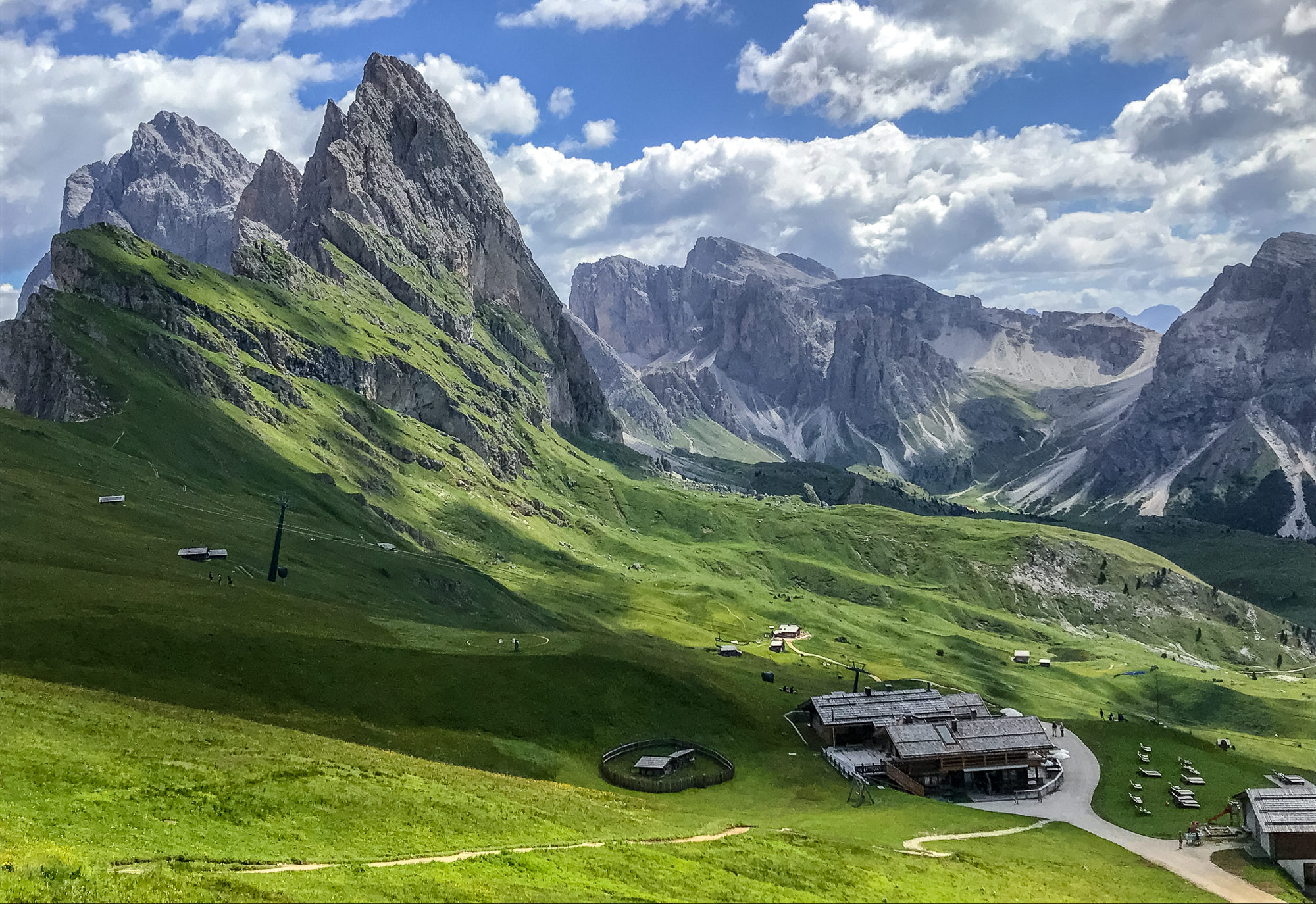 Hiking in the Italian Dolomites -- Seceda