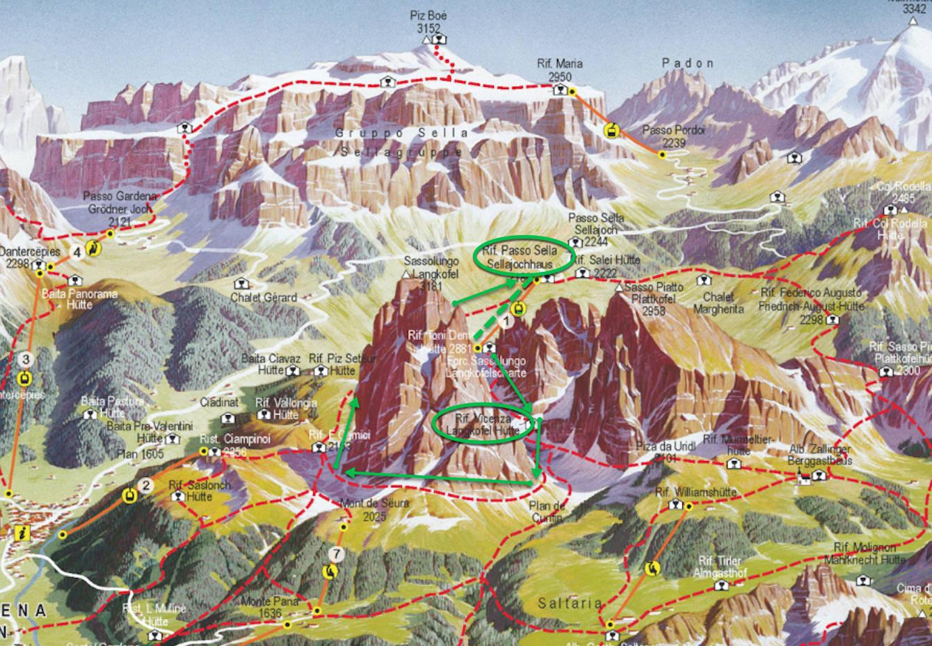 Sassolungo hiking route