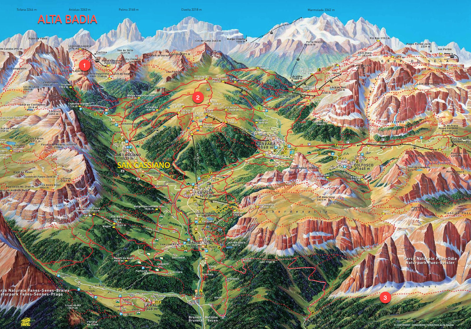 Alta Badia Summer Hiking Map