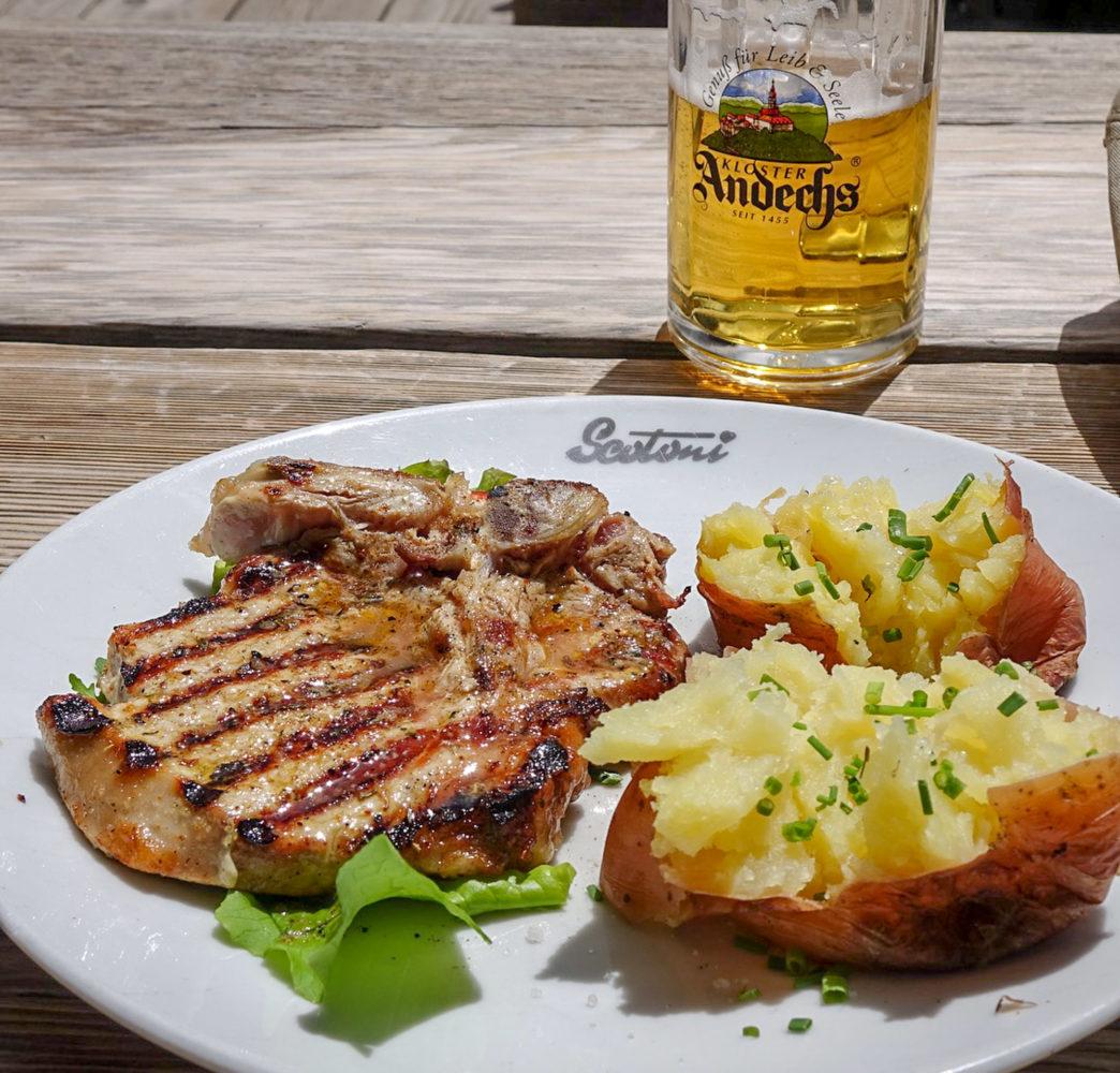 Rifugio Scotoni Hütte meal