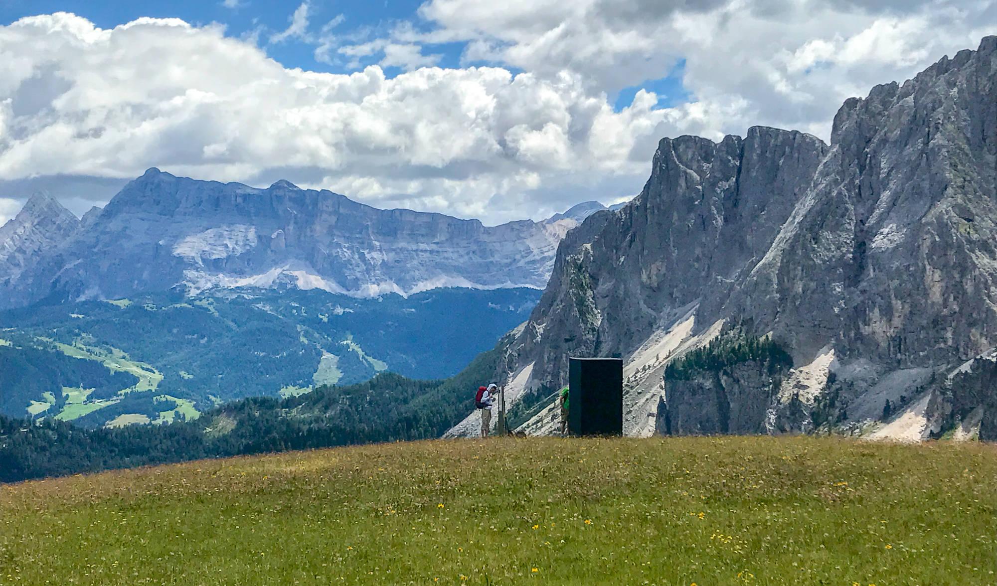 Der Haps art installation Itaian Dolomites