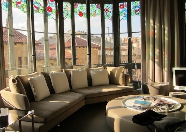 El Palauet Living sitting room windows