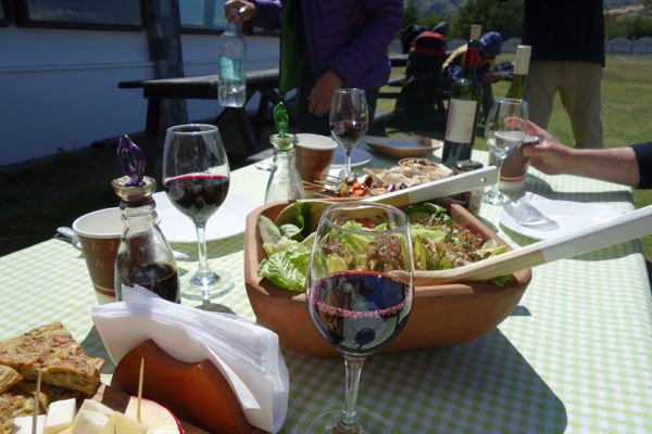 Tierra Patagonia lunch feast