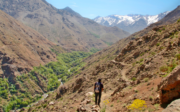 Trekking in High Atlas Mountains