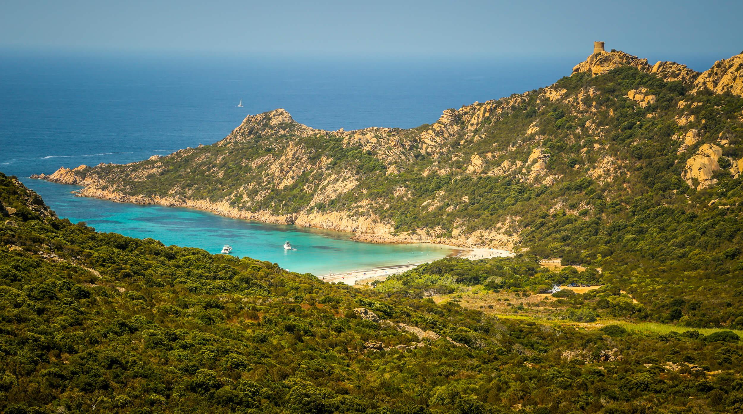 Roccapina beach cove Corsica