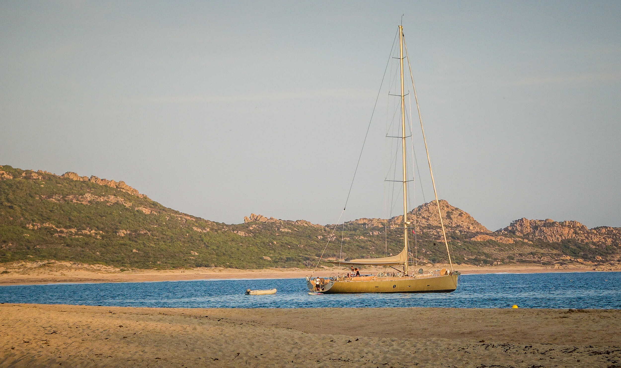 Sailboat at Domaine du Murtoli