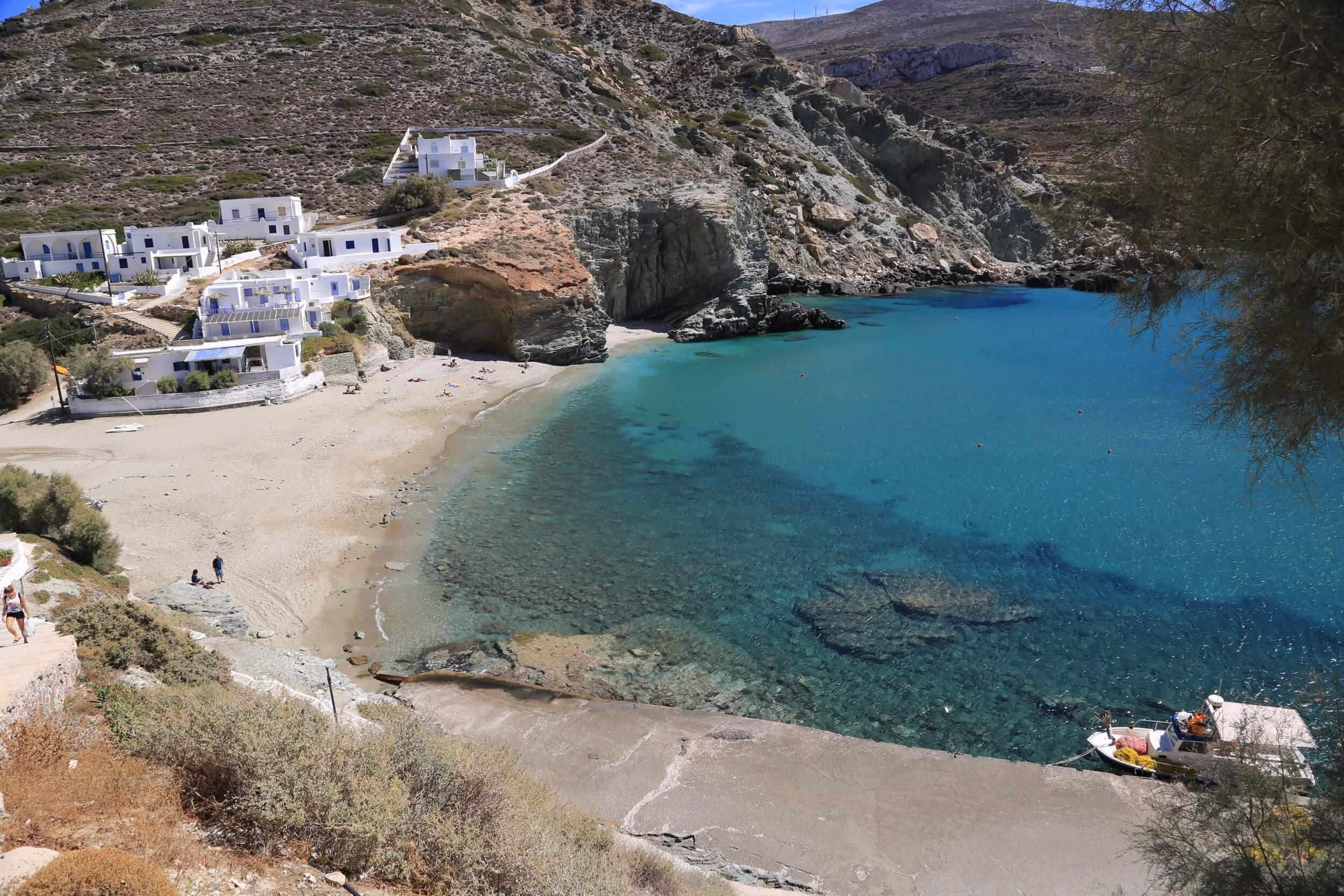 Folegandros Agkali beach
