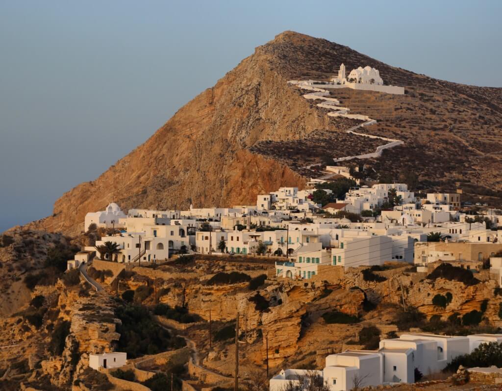 Folegandros Chora town and church