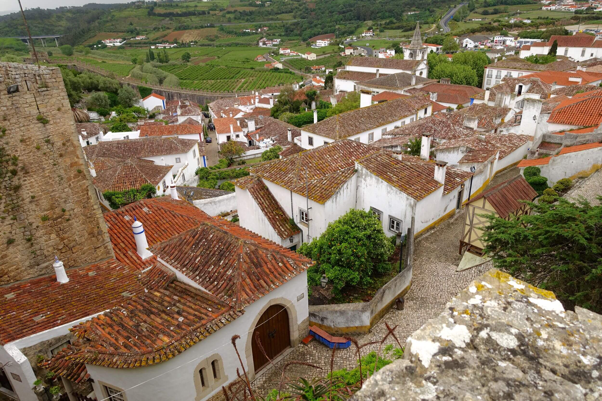 Obidos village houses