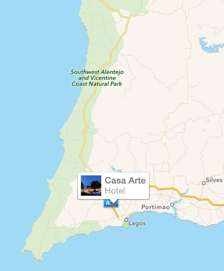 Casa Arte location