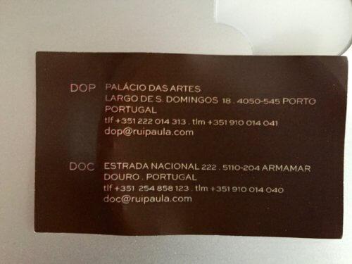Rui Paula business card