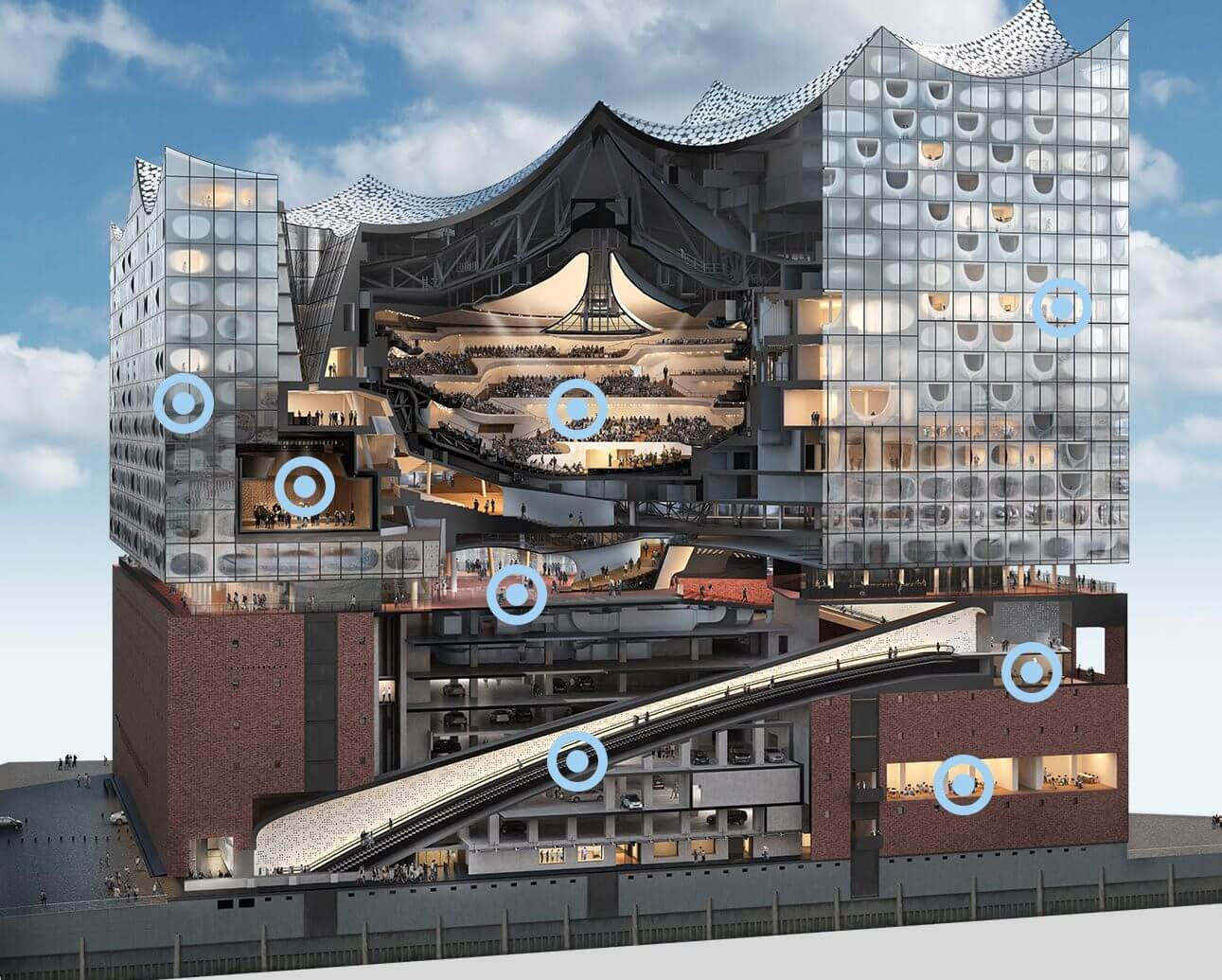 Elbphilharmonie cut-away