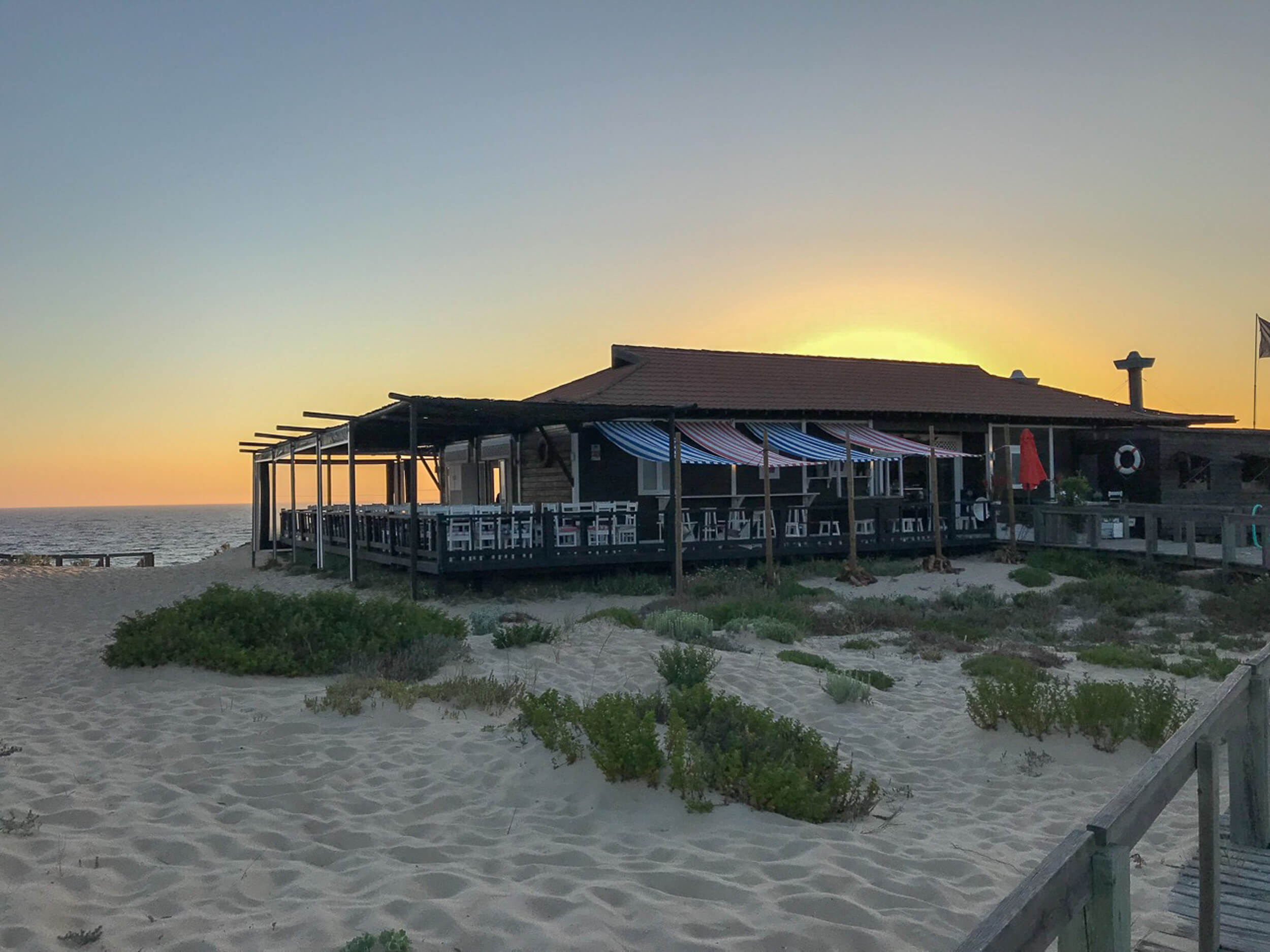 Restaurant Sal Comporta at sunset