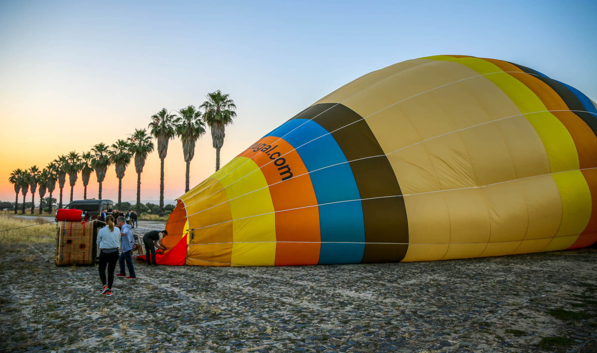 Inflating balloon Emotion Portugal Monsaraz