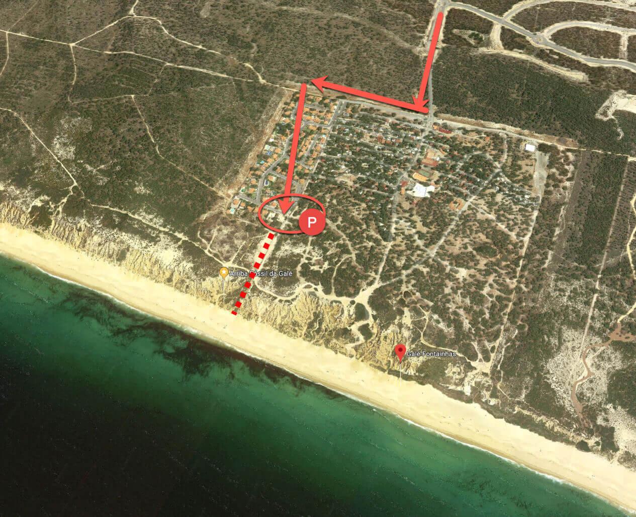 How to get to Fontainhas Gale beach