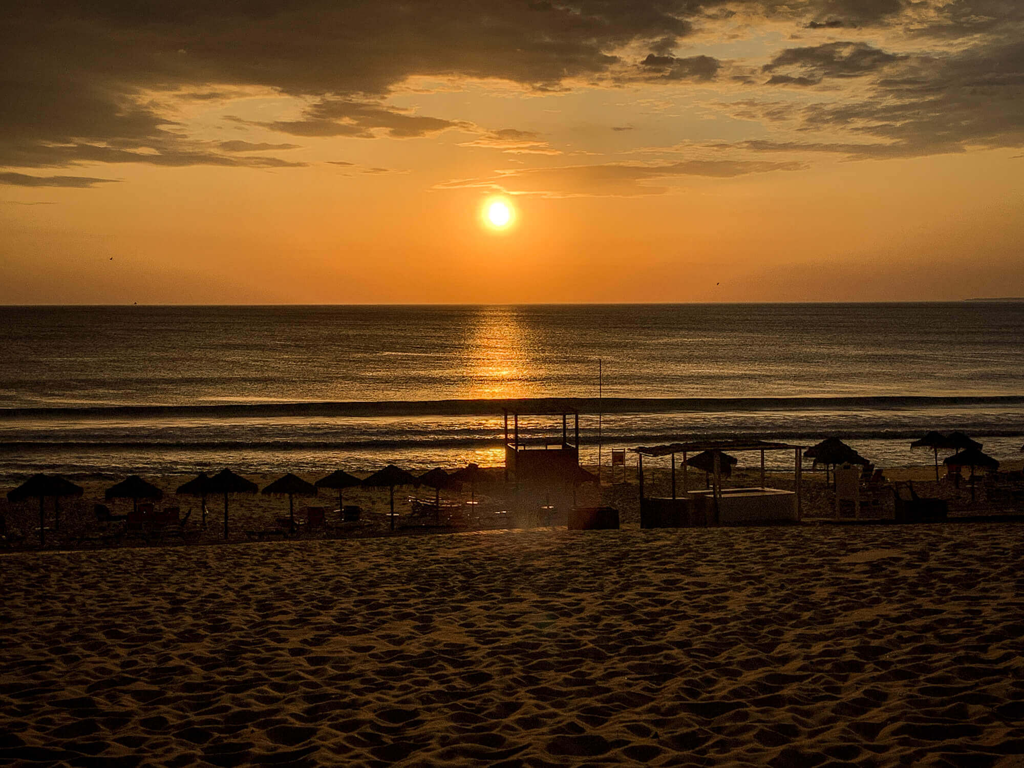 Sun setting at Pego Beach Comporta