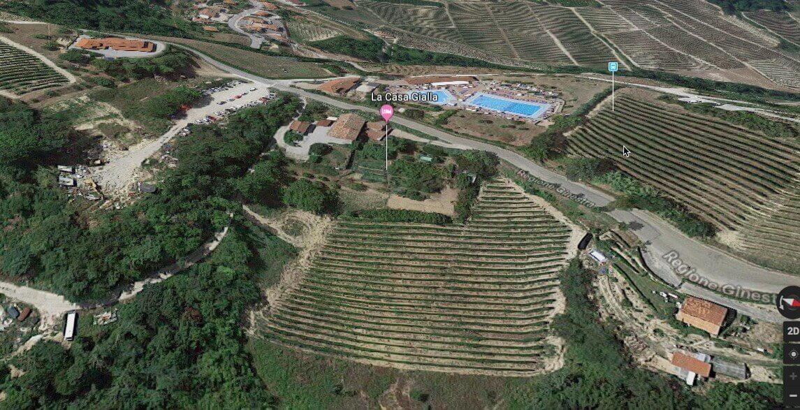 La Casa Gialla Monforte from the air