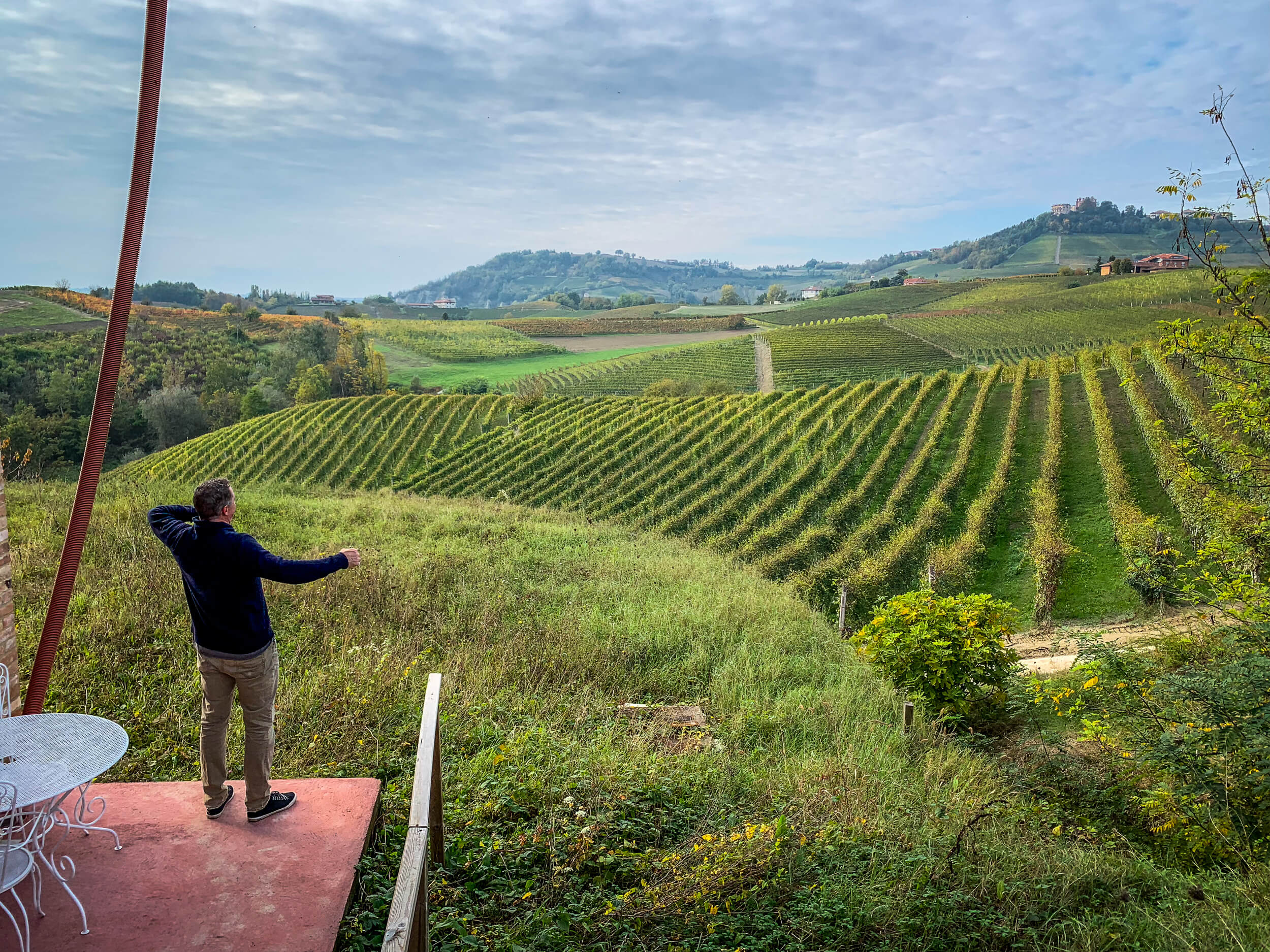 Overlooking Simone Scaletto vineyard