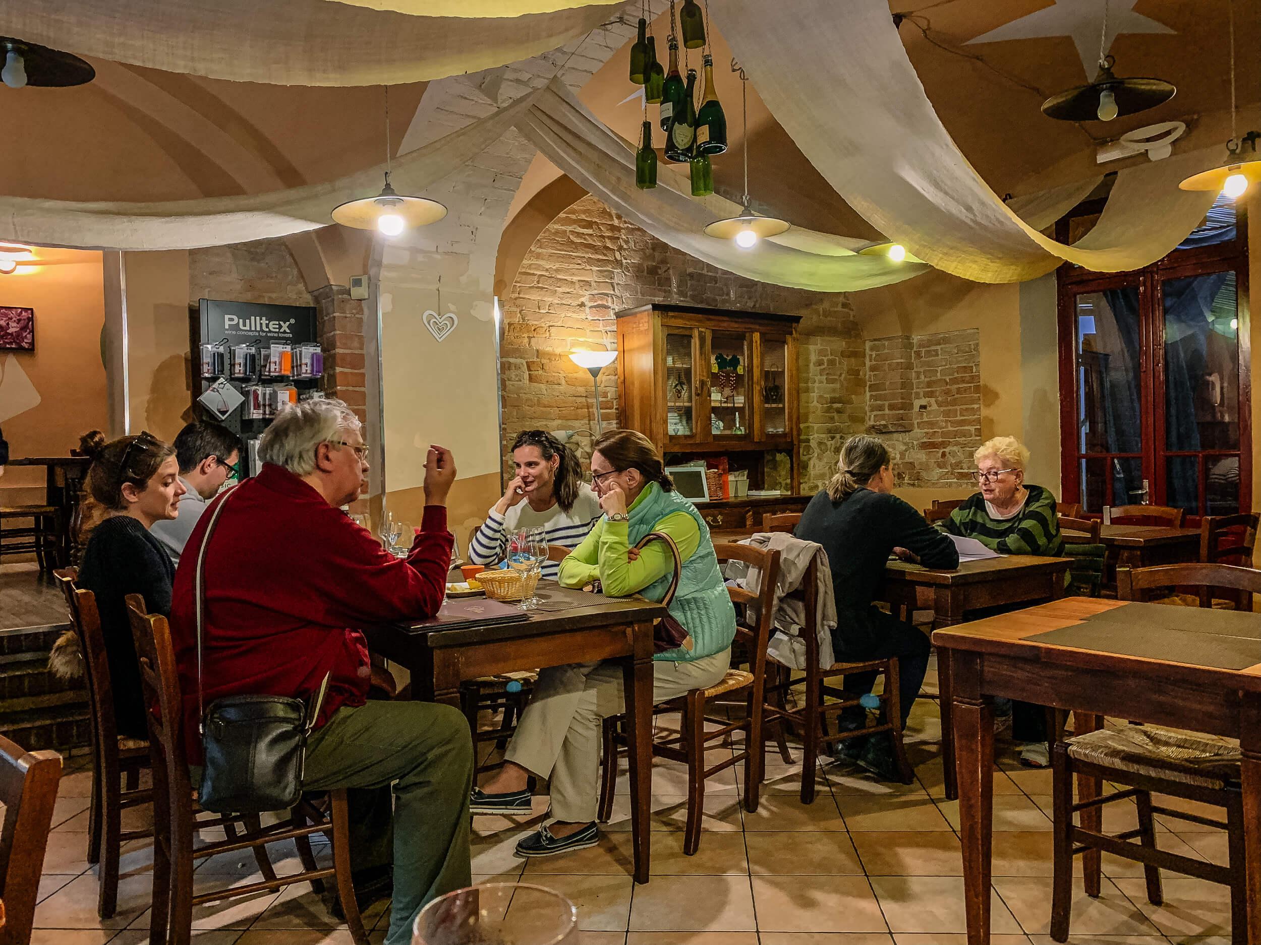 Patrons in Barolo Bar Monforte