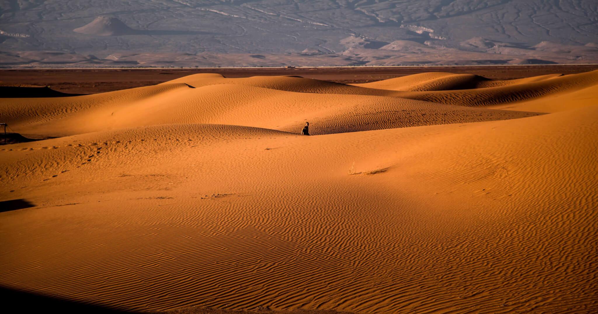 Dar Ahlam porter in dunes