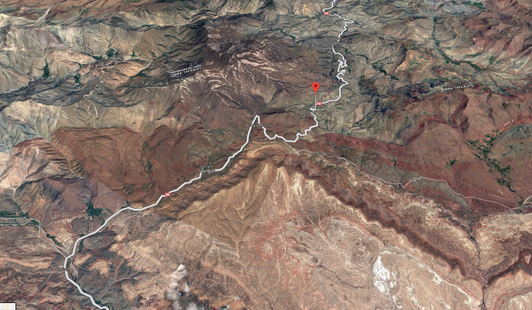 Tizi N'Tichka Pass geography