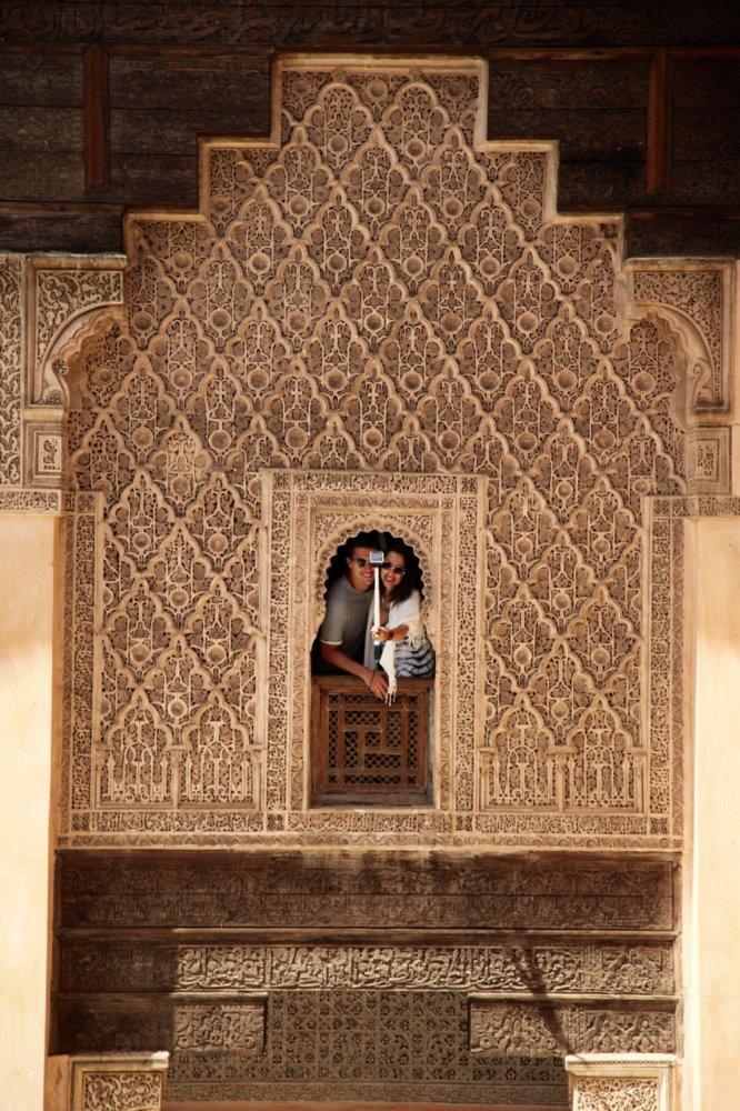 Ben Youssef Madrasa tourist selfie
