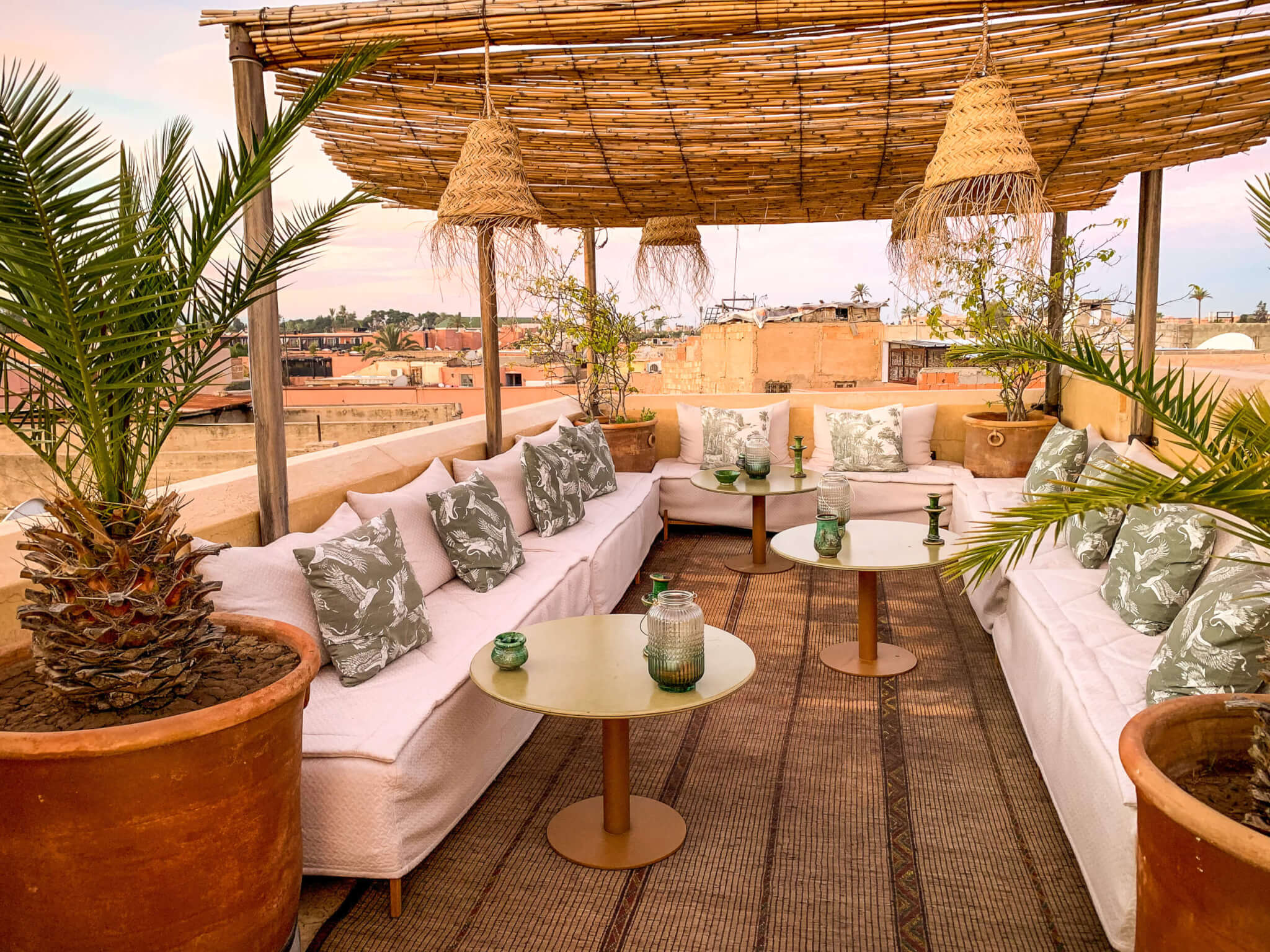 Riad 72 Marrakech rooftop lounge