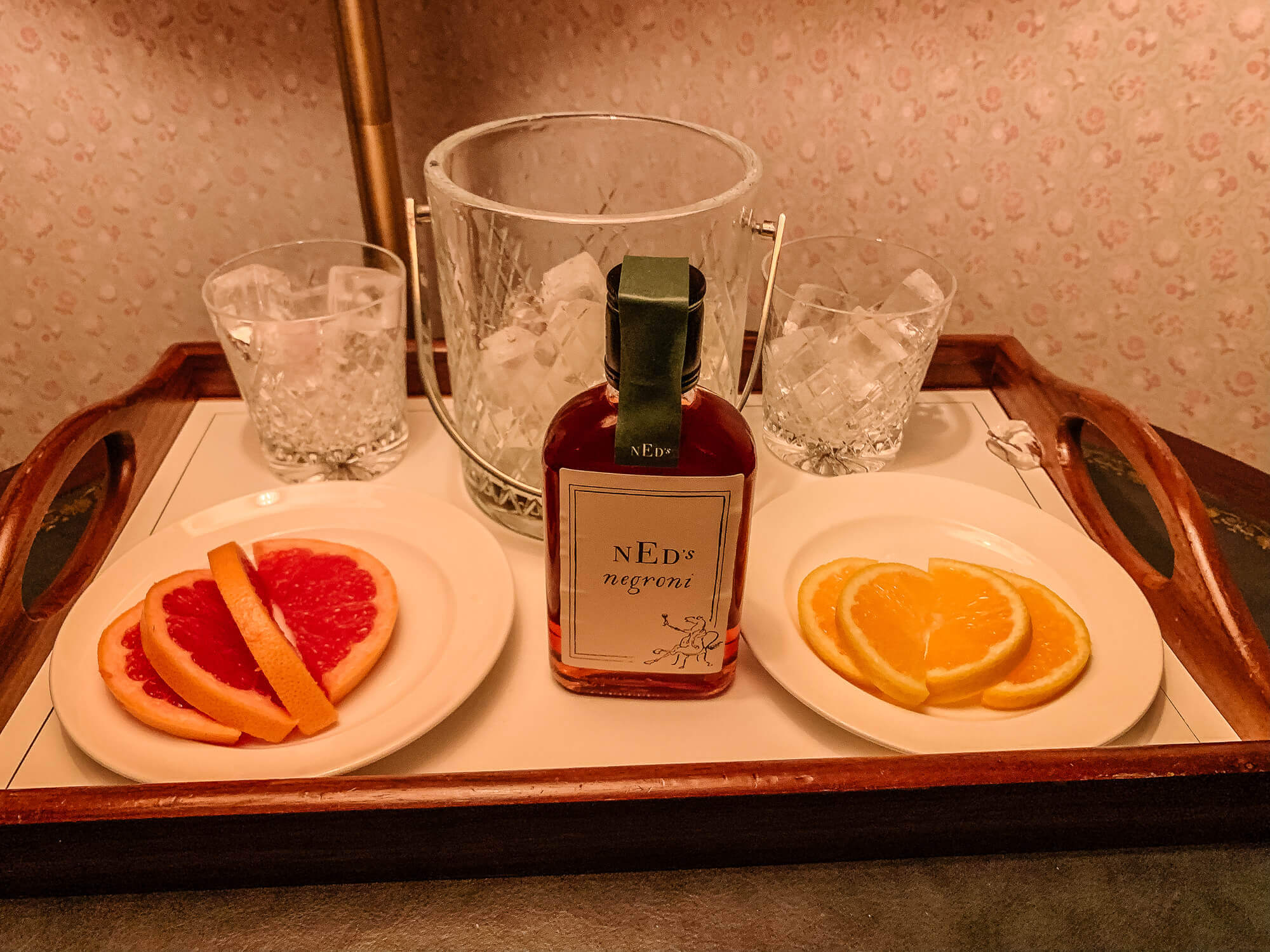 Mini bar Negronis The Ned