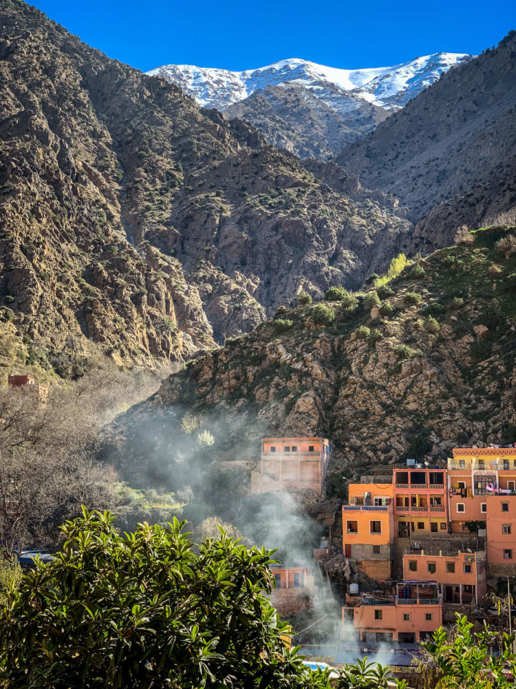 Village view Ourika Valley Morocco